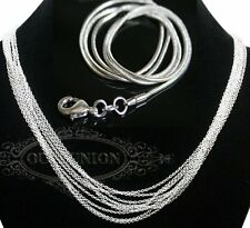Fashion 1mm 2mm Silver Plated Snake Necklace Chain Jewelry Chains DIY Wholesale