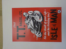 ISLE OF MAN TT RACES 1960s poster