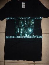 """VICTORIAS SECRET PINK BLING OMBRE """"LOVE PINK"""" VNECK TEE NWT"""
