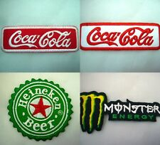 Beverage Soft Drink Energy Drink PATCHES EMBROIDERED IRON SEWING ON PATCH Febric