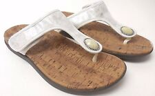 Orthaheel Honey White Thong Sandals Adjustable straps Arch Support Size 10 (V)