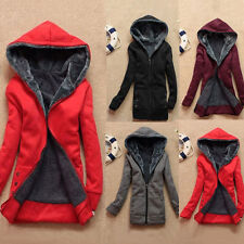 HOT Womens Winter Warm Outwear Coat Hooded Thick Coat Jacket Cotton Blend