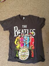 The Beatles unisex sgt peppers lonely hearts t shirt grey