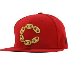 Crooks and Castles Big C Link New Era Fitted Cap (scarlet)