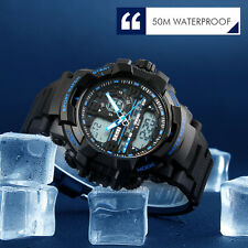Digital Analog Watch Sport Quartz Wrist Men Mens Chrono Waterproof Military New