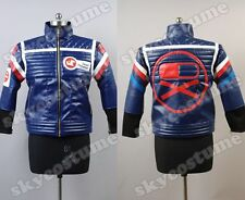 My Chemical Romance Party Poison Blue Pleather Jacket Costume Hot& New Cosplay