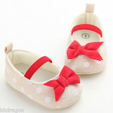 Toddler Baby Girls Bowknot Princess Shoes Soft Sole Baby Shoes for 0-18month