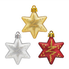Christmas Tree Stars Decorations Baubles Xmas Party Wedding Ornament Gift5HUK