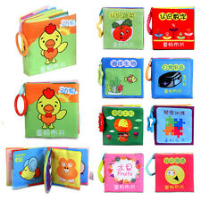 Kid Infant Baby Animal Cloth Book Intelligence Development Toy Cognize Books FN