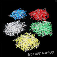 100Pcs, 5MM,3MM LED Diode Kit Mixed Color Red Green Yellow Blue White DIY Kit