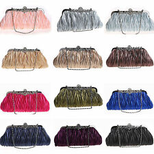 Women's Vintage Satin Evening Bag Clutch Party Wedding Hobo Handbag Clearance