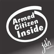 Armed Citizen Pro Gun Vinyl Decal Sticker Funny Molan Labe Rifle Pistol America