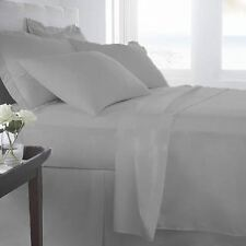 "EGYPTIANCOTTON SHEET SET/DUVET/FITTED/FLAT/PILLOW ""SELCT SIZE SILVER GREY 1000TC"