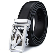 Men's Belts Superman Automatic Belt Buckle Genuine Leather Belts Waist Strap