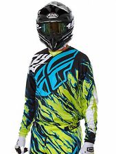 Fly Racing Lime-Blue 2017 Kinetic Relapse MX Jersey