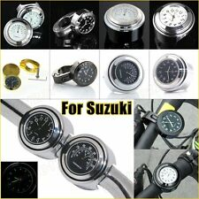 For Suzuki Motorcycle Handlebar Lever Mount Watch/Clock Thermometer Metal Alloy