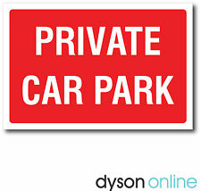 Private Car Park Metal Sign, Red & White, Various Sizes FREE P+P