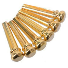 6 Pieces Gold/Silver/Black Tone Metal Dot Head Acoustic Guitar String Nails New