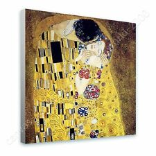 CANVAS +GIFT The Kiss Gustav Klimt Prints Pictures Posters Paintings Paints