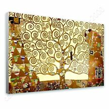 CANVAS +GIFT Tree Of Life Yellow Gustav Klimt Prints Poster Wall Decor Giclee
