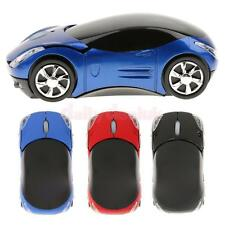 Car Shape Wireless Mice Optical Mouse+USB Dongle Receiver for Laptop Computer PC