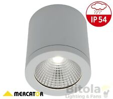 MERCATOR COOPER SURFACE MOUNTED 10W LED DOWNLIGHT WHITE DIMMABLE ROUND MD5010WHT
