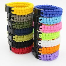 Survival Paracord Bracelet 550lb Parachute Cord Emergency Rope Camping Wristband