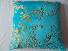 Designers Guild Fabric Fredensborg Cyan / Turquoise Cushion Covers / Pillow