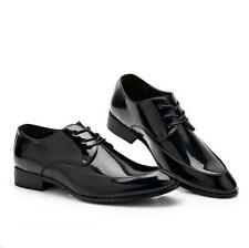 Stylish new patent leather Men's pointed toe Oxfords formal Dress WingTip Shoes