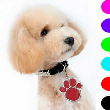 Animal Dog Cat Pet Paw Print Stainless Steel Pendant Necklace Charm Tag JB