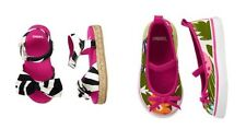 NWT toddler sz 5 6 10 Gymboree Wild for Zebra sandals canvas shoes 18-24 2T 4T