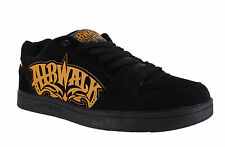 AirWalk Triple X Mens Black/Orange Casual Skate Lace Up Padded Shoes Trainers