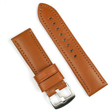 24MM Leather Watch Band Strap In Tan Calf Leather