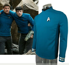 Movie 2016 Star Trek Science&Tech Dpt Spock Uniform Cosplay Costume T-shirt