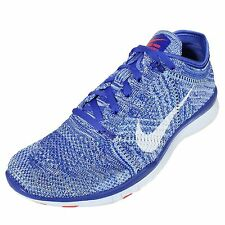 Nike Free TR Flyknit Womens Size Running Shoes Racer Blue White 718785 403