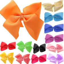 "5"" Big Hair Bow Aligator Clips Grosgrain Ribbon Bow Girls Hair Accessories"