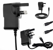 UK MAINS MICRO USB Wall Plug Charging Adaptor Cable Charger For HTC Mobile Phone