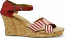 Toms  Womens Strappy Wedges 024019B13-UNRED (SZ: 6.5)- Choose SZ/Color.