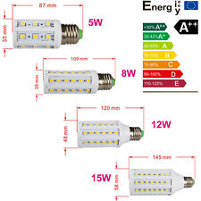5W 8W 12W 15W E27 LED Screw socket Corn Light 5050 SMD bulb Power lamp 220V 110V