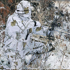Winter snow camouflage cotton suit hunting ghillie suit F bird watching