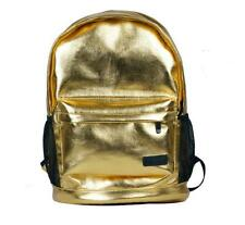 Fashion Stylish Gold Silver PU Leather Backpack School Should Bag For Teen Girls