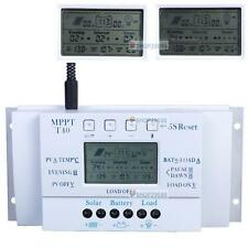 LCD 10/20/30/40A 12V/24V MPPT Solar Panel Regulator Charge Controller 3 Timer AE