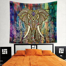 Bohemian Tapestry Elephant Mandala Tapestry Wall Hanging Beach Coverlet Design