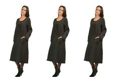 BELLA BLUE LAGENLOOK BOHO LAYERING LONG SLEEVE DRESS  Bust 42-44""