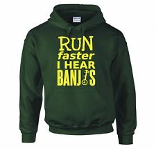 """DELIVERANCE """"RUN FASTER, I HEAR BANJOS"""" HOODIE NEW"""