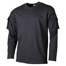 Tactical Military Army Special Ops Combat T-Shirt - Black - Long Sleeve