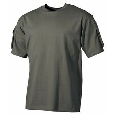 Tactical Military Army Special Ops Combat T-Shirt - Olive Green - Short Sleeve