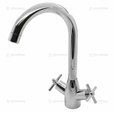 1.5 Bowl Stainless Steel Kitchen Sink Reversible Drainer Cross Handle Mixer Tap