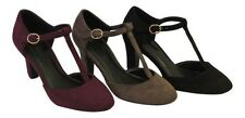 New Retro Vintage Style 1930's 1940s WW2 Wartime T-Bar Mary Jane Court Shoes