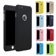 Hybrid 360°Hard Case Shockproof Tempered Glass Cover For Apple iPhone 7 6 Plus